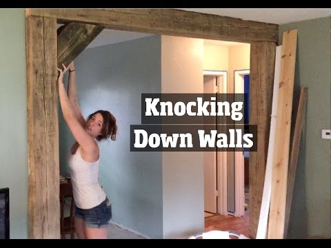 How to Update a 1950's Home  – Removing Walls, Remodeling  and Creating a DIY Open home floor plan