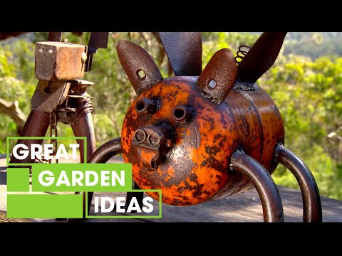 Design Your Own Recycled Metal Garden Art | Gardening | Great Home Ideas