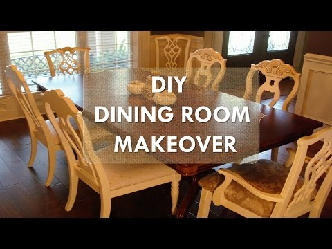 """DIY Dining Room Makeover """"Just Chalk Paint & Fabric"""""""