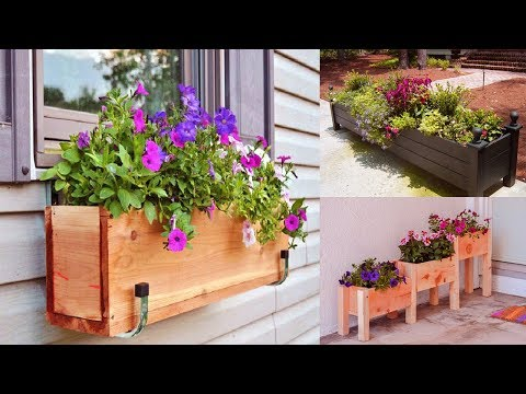 Beautiful Unique Container Gardening ideas | FLOWER box planters ideas