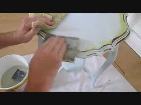 serpent edged table gets a make over shabby chic  painted furniture, step by step video