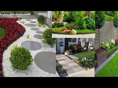 Cozy fresh looking garden landscaping makeover ideas