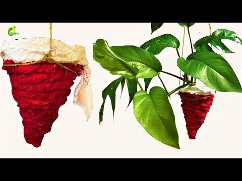 cone shape planter/planter making at home /planter ideas/organic garden