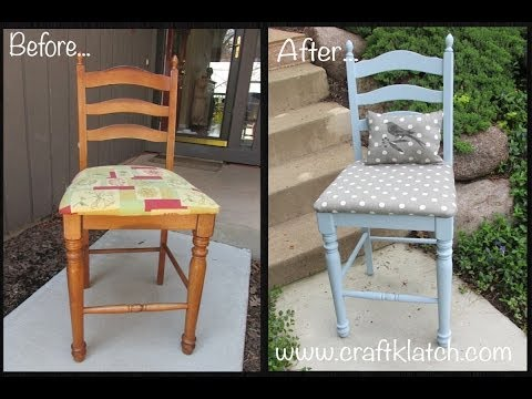 DIY Garbage to Gorgeous Episode 2   Chair Makeover Recycling Furniture