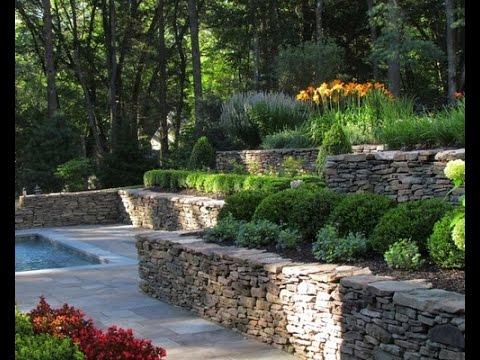 terraced backyard landscaping ideas
