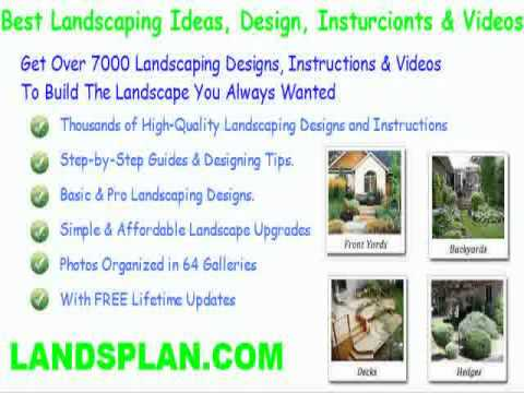 landscaping ideas front yard hill