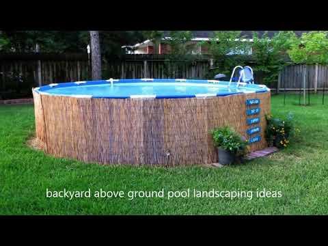 [Modern Backyard] Backyard Above Ground Pool Landscaping Ideas [Small Backyard Ideas]