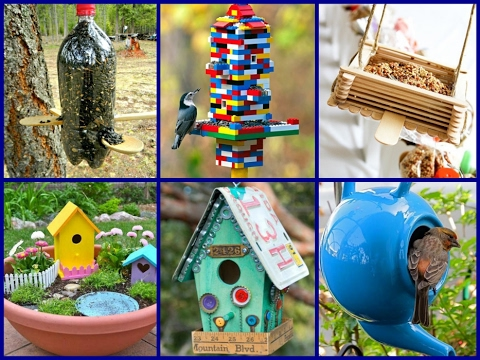 30 Simple  DIY Bird House Ideas  – DIY Garden Decoration