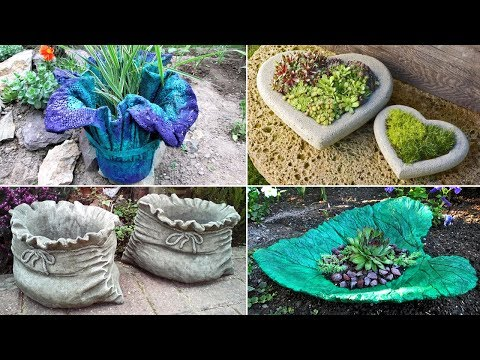 Interesting Ideas of Crafts from Concrete for a garden. Crafts for the Garden
