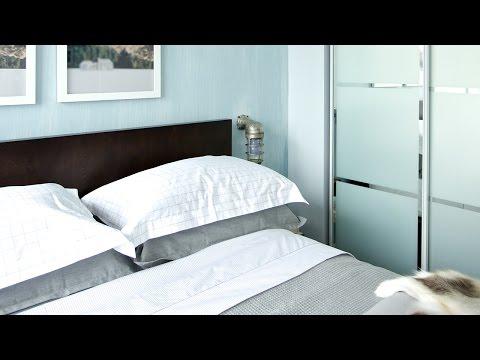 Interior Design – Cool Blue Condo Bedroom Makeover