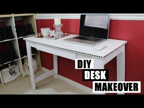 DIY Desk Makeover | How To Paint Furniture Without Sanding | DIY Room Decor