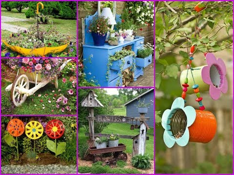 Easy Garden Decor Ideas from Recycled Household Items