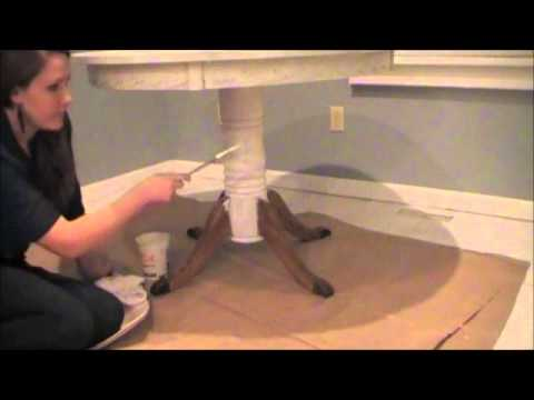 DIY Chalk-like Paint Table Makeover – Antique White (Part 1 of 2)