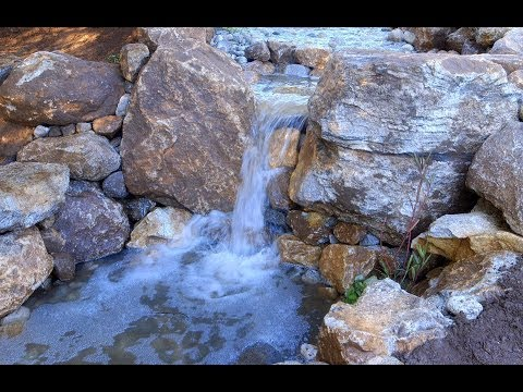 How to make a Waterfall – Landscaping Ideas – Part 5