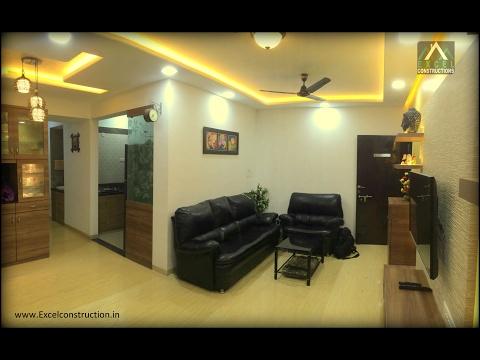 2 BHK Apartment Interior Design at Petals, Wakad , Pune |Excel constructions & Interior Designers.