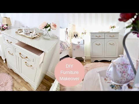 DIY furniture makeover, Cottage style cabinet makeover