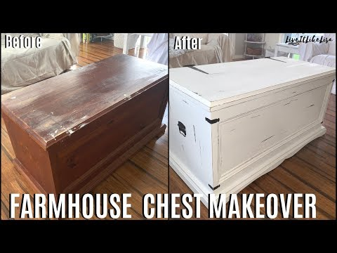 FURNITURE MAKEOVER | Farmhouse Chest Coffee Table