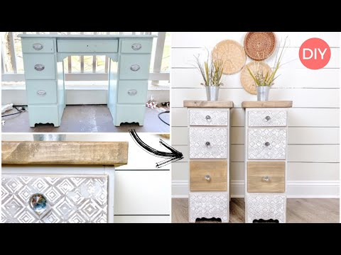 How To Turn A Desk Into End Tables | Furniture Makeover DIY | Ashleigh Lauren