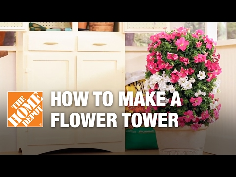 Flower Towers – Small Garden Ideas