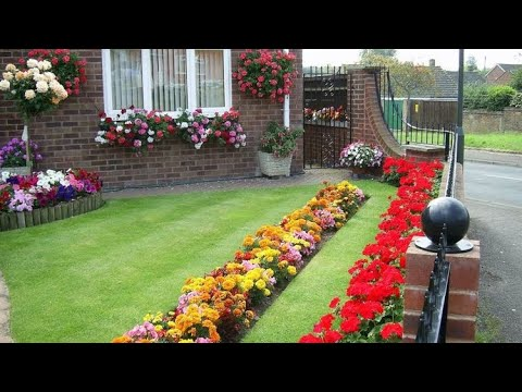 Colorful flower landscaping design ideas