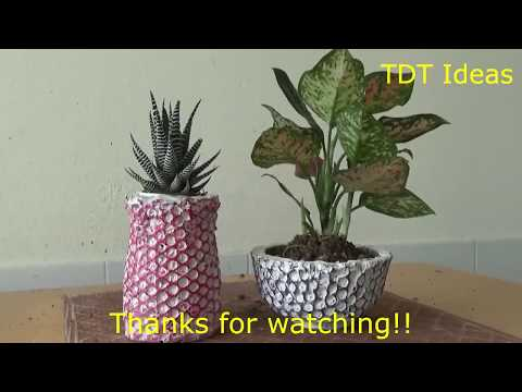 DIY container gardening ideas | create flower pots with cement