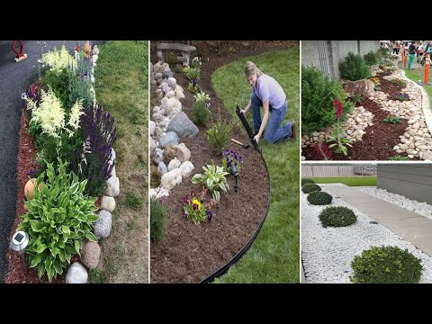 25+ Good Landscaping Ideas with Rock For Your Backyard and Front Yard | garden ideas