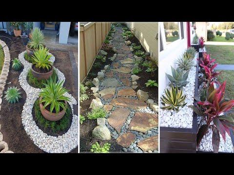 38 Creative Side House Garden Landscaping Ideas With Rocks | garden ideas