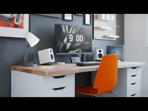 Modern Workspace Desk Setup Makeover (2020)