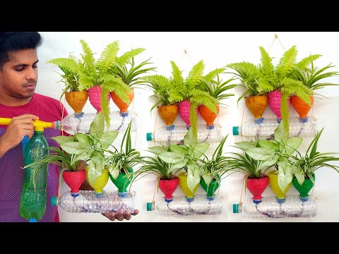Recycling Plastic Bottle Vertical Garden Ideas, gardening ideas for home