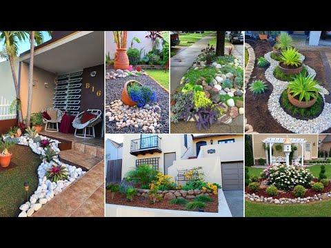 90+ Beautifil Rock landscaping ideas for front yard | Garden Ideas