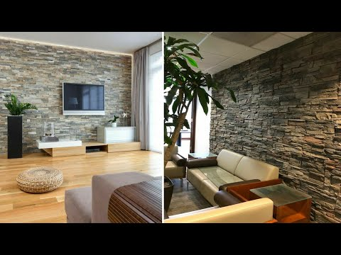Top 100 stone wall decorating ideas – modern home interior design trends 2020