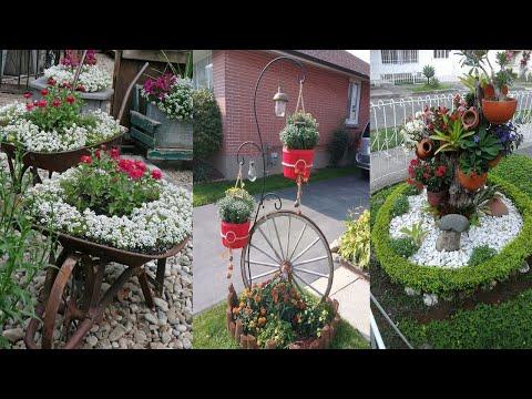 Unique flower planters ideas for yards | diy garden
