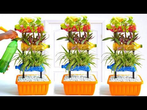 Colorful Garden from Plastic Bottles/ Cute Vertical Garden Ideas/ Gardening Ideas for Home