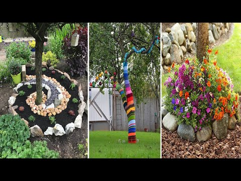 5 Magical Around the Tree Landscaping Ideas | diy garden