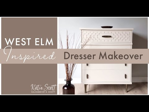WEST ELM INSPIRED DRESSER MAKEOVER | Stripping Latex Paint Off of Furniture