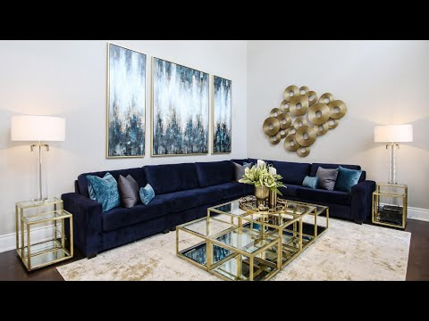 Functional Blue and Gold Great Room Makeover + Design Tips | Kimmberly Capone Interior Design