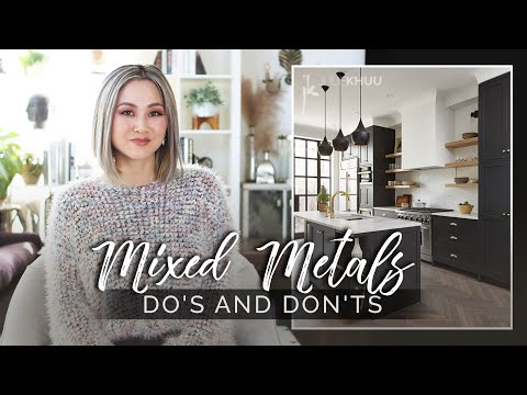 INTERIOR DESIGN TIPS | DO'S AND DON'TS of Mixing Metals in Your Home | Julie Khuu