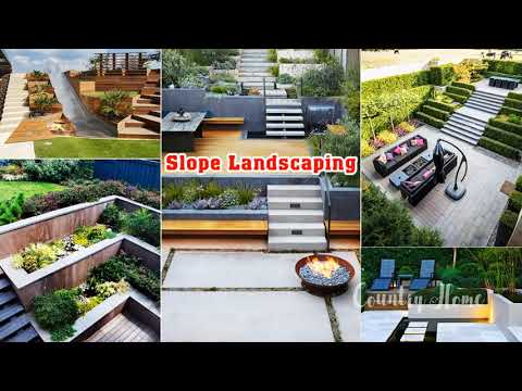 Top 40 Amazing Backyard Slope Landscaping Ideas | Hill Softscape Designs