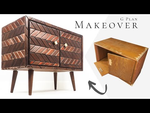 MID CENTURY CABINET MAKEOVER / FURNITURE TRANSFORMATION / Thrift Flip