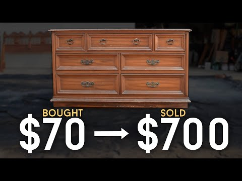 Furniture Makeover // Flipping A Facebook Marketplace Dresser For Profit